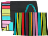 Beach towels and matching beach bags