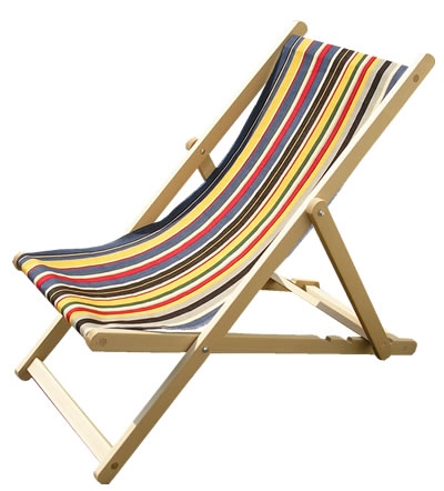 Traditional Folding Wooden Deckchairs