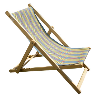 Deckchairs covered in Vintage Deckchair Canvas
