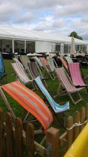 Tour de France Deckchairs in Harrogate