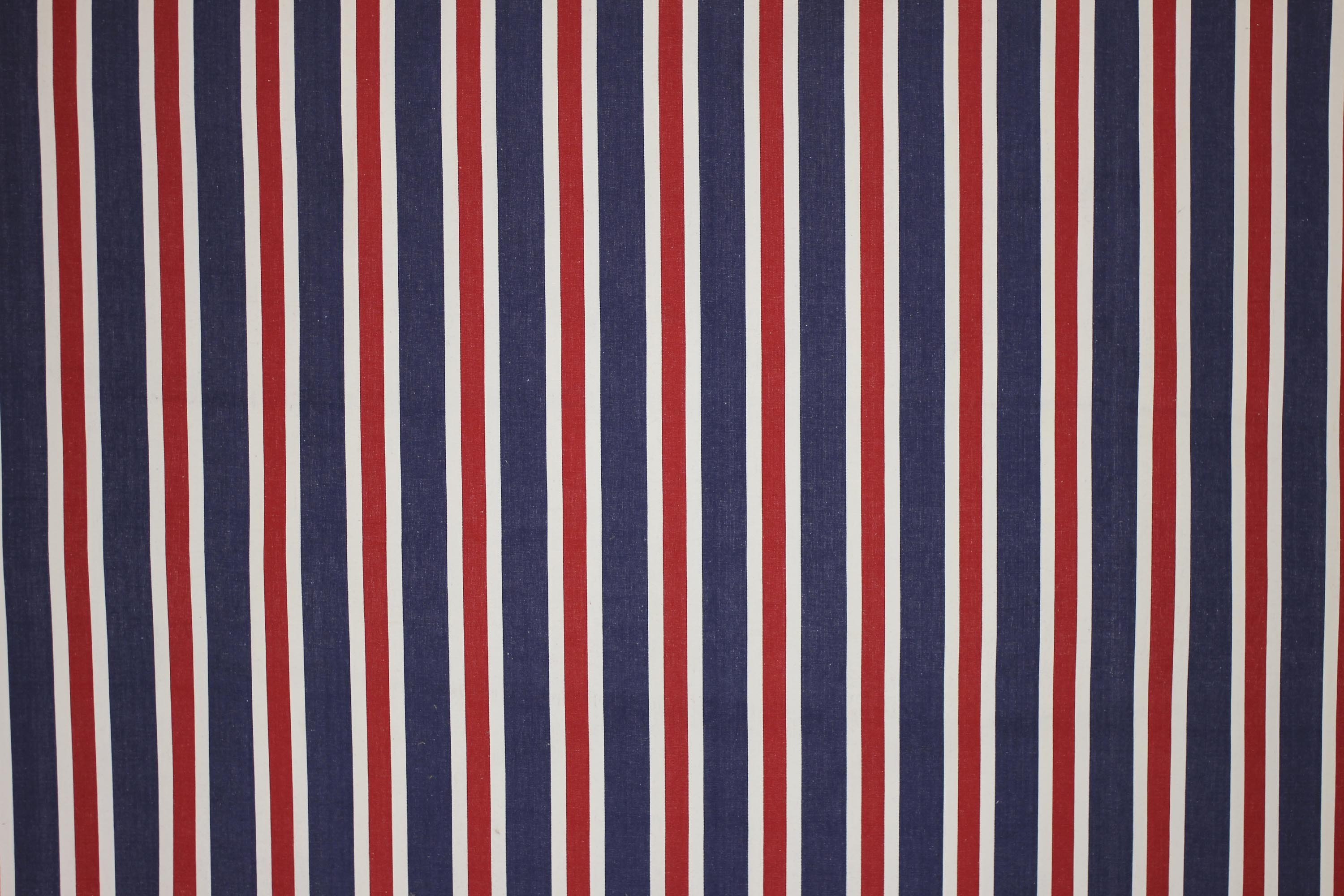 Red Royal Blue And White Stripe Fabric