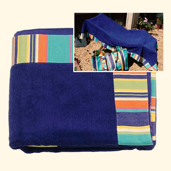 Yachting pattern extra large towel