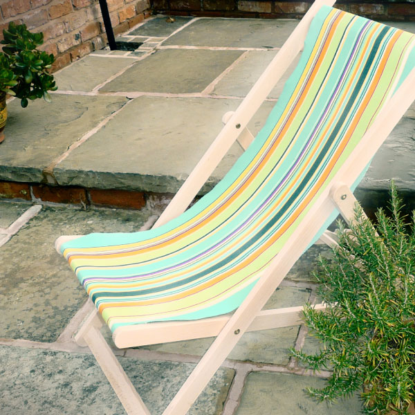 stripey deckchairs chair