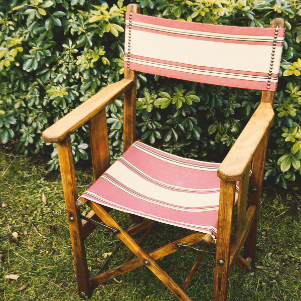 stripey directors chair