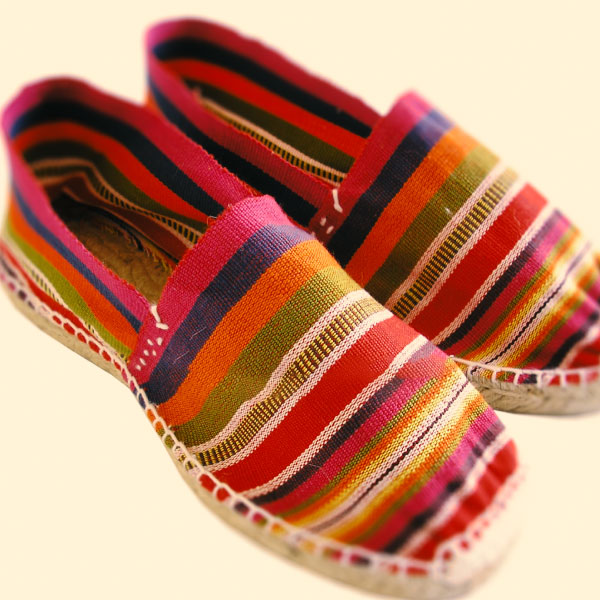 striped espadrilles pointe