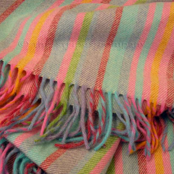 striped throws lambswool