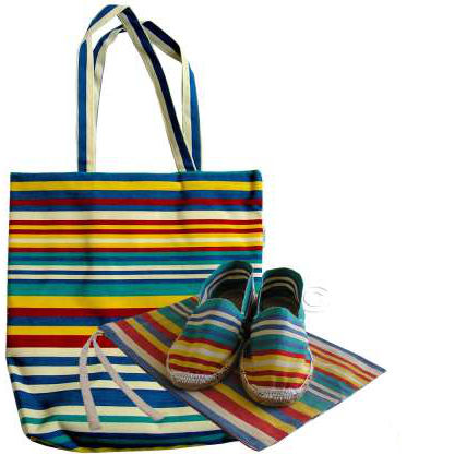 striped tote bags with espadrilles