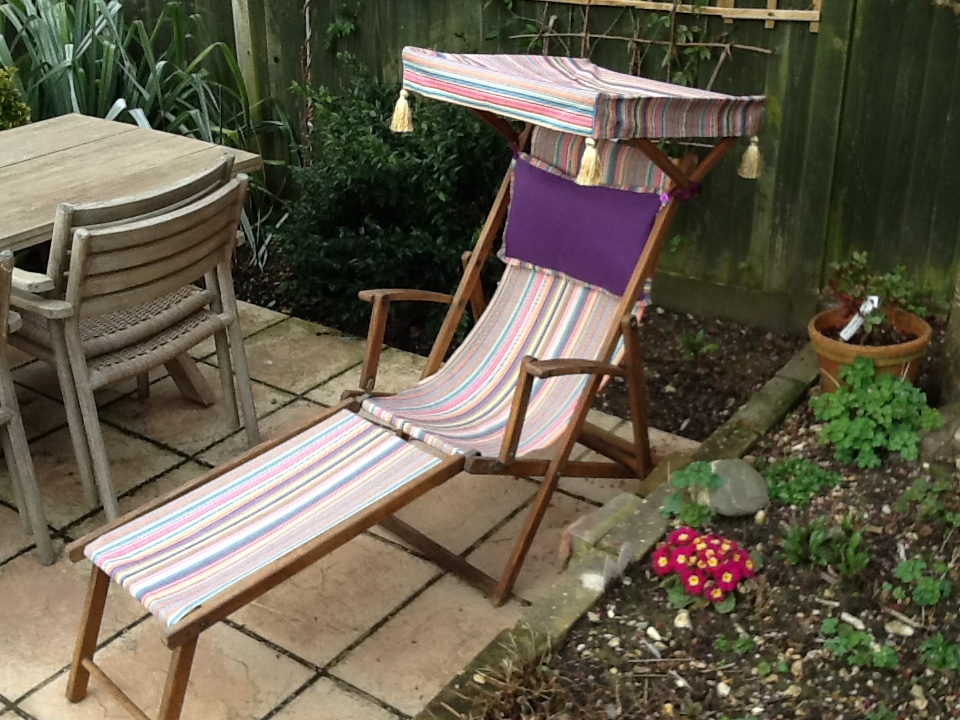 restored edwardian deckchair