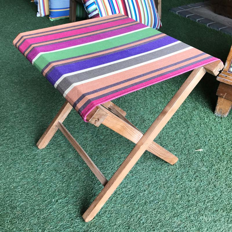 teak folding stool