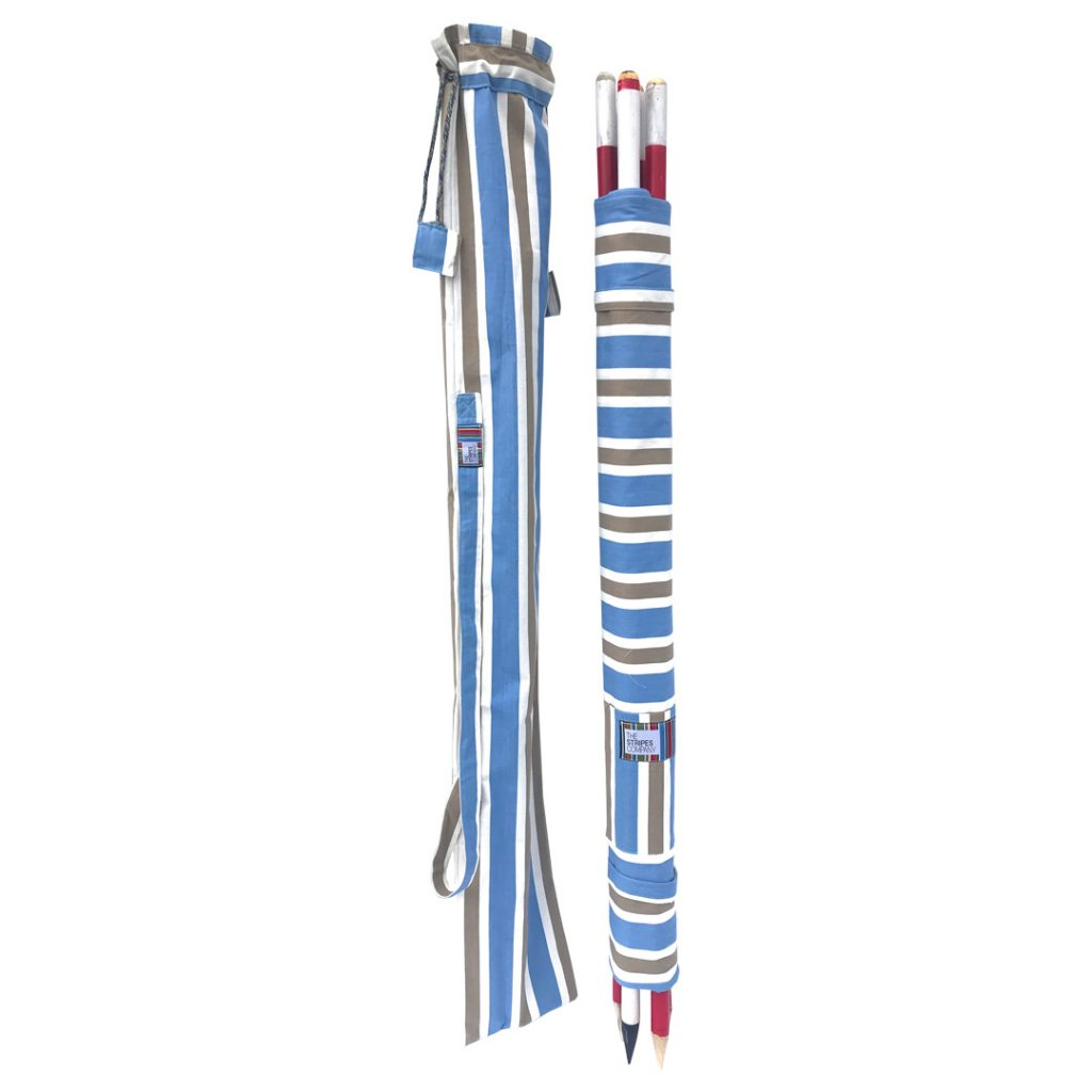 blue beige white stripe windbreak